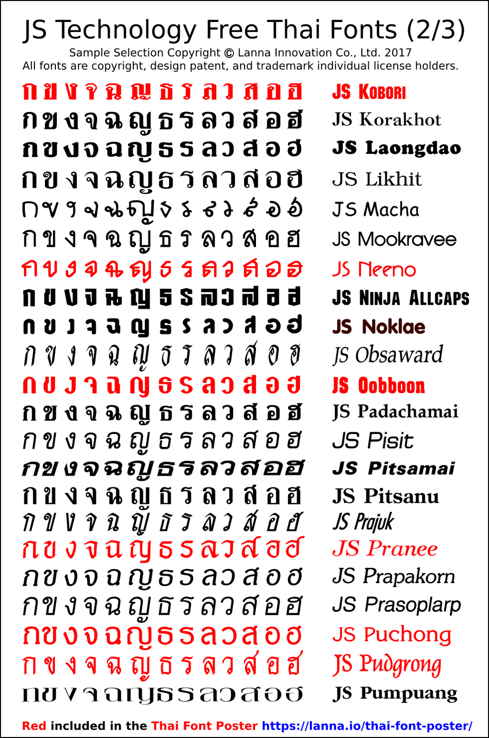 Lanna innovation > free, downloadable thai font collectionlanna. Io.